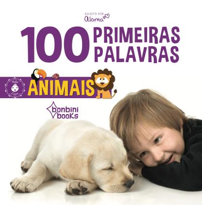 Capa do livro 100 primeiras palavras - animais