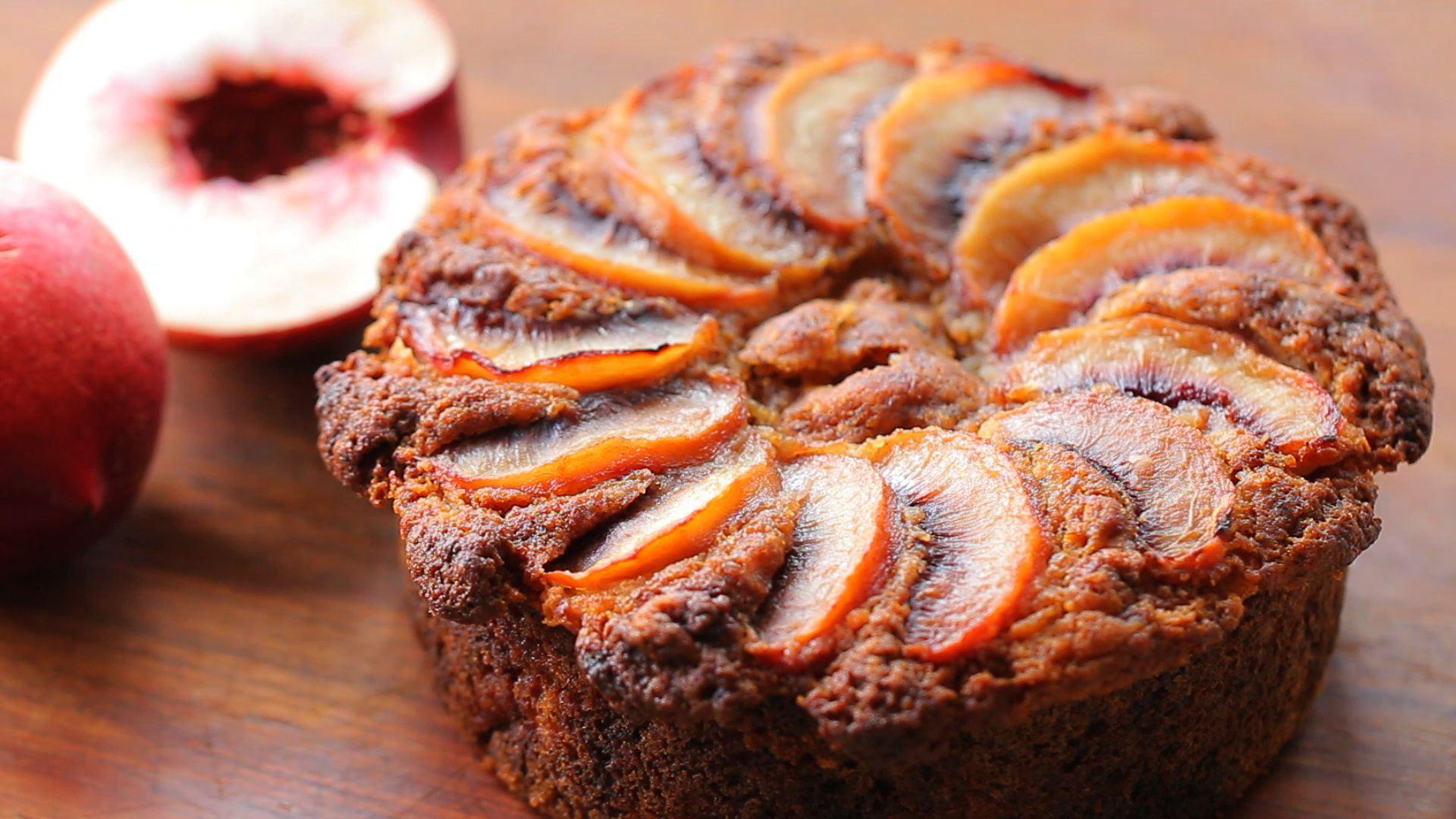 Peach Cake Recipe No Eggs No Dairy No Gluten 1st
