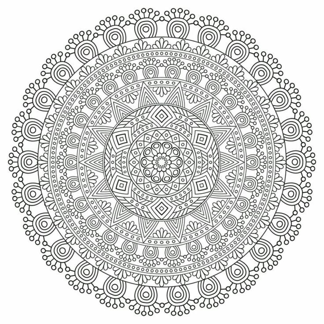 Disegni Da Colorare Per Adulti Mandala 578