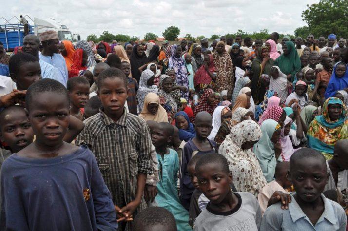 Civili in fuga nello stato di Borno. Photo Jossi Ola