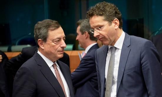 BCE-Draghi+Eurozona-Dijsseboem_(EUCouncil NC-ND)
