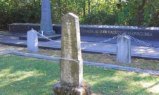 Cimitero di Samorin, il monumeno ai caduti italiani