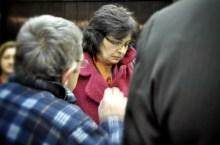 Lucia Zitnanska con elettori SDKU