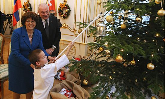 Natale al Palazzo del Presidente Gasparovic