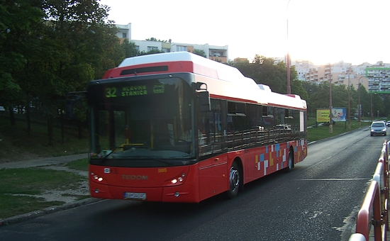 autobus di trasporto pubblico a Bratislava