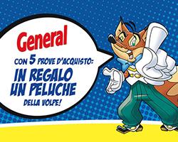 Peluche della Volpe di General omaggio con Henkel