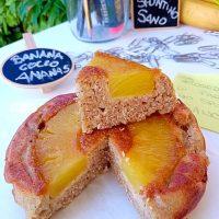 Tortina di Banana Rivesciata all'Ananas e cocco
