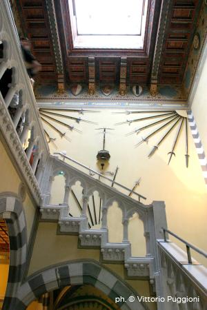 Scala interna del Castello D'Albertis di Genova
