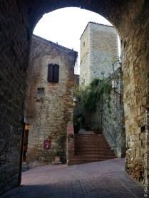 San Gimignano gradinata