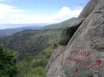 Rocce del Monte Rama sui Monti su Riviera di Ponente ligure