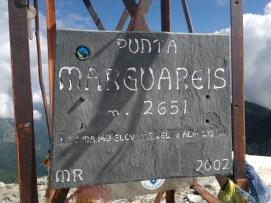 Punta Marguareis cartello