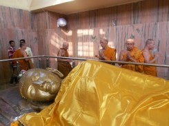 Statua di Buddha morente a Kushinagar