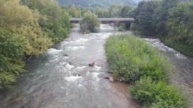 Bolzano fiume talvera