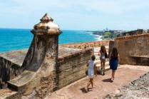"""Three women women from New York, on vacation in Puerto Rico, visit Castillo San Felipe del Morro, a 16th-century Spanish fort in San Juan"""