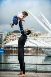 Genova 14/09/2017 Iron Dad, Filippo Minuto diventa atleta di Triathlon per la sua bambina Guia e l'Associazione Italiana per il Neuroblastoma