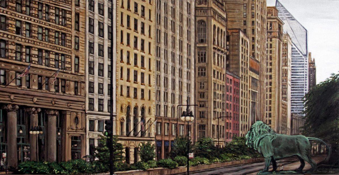 Skyscraper Wall (South Michigan Avenue)