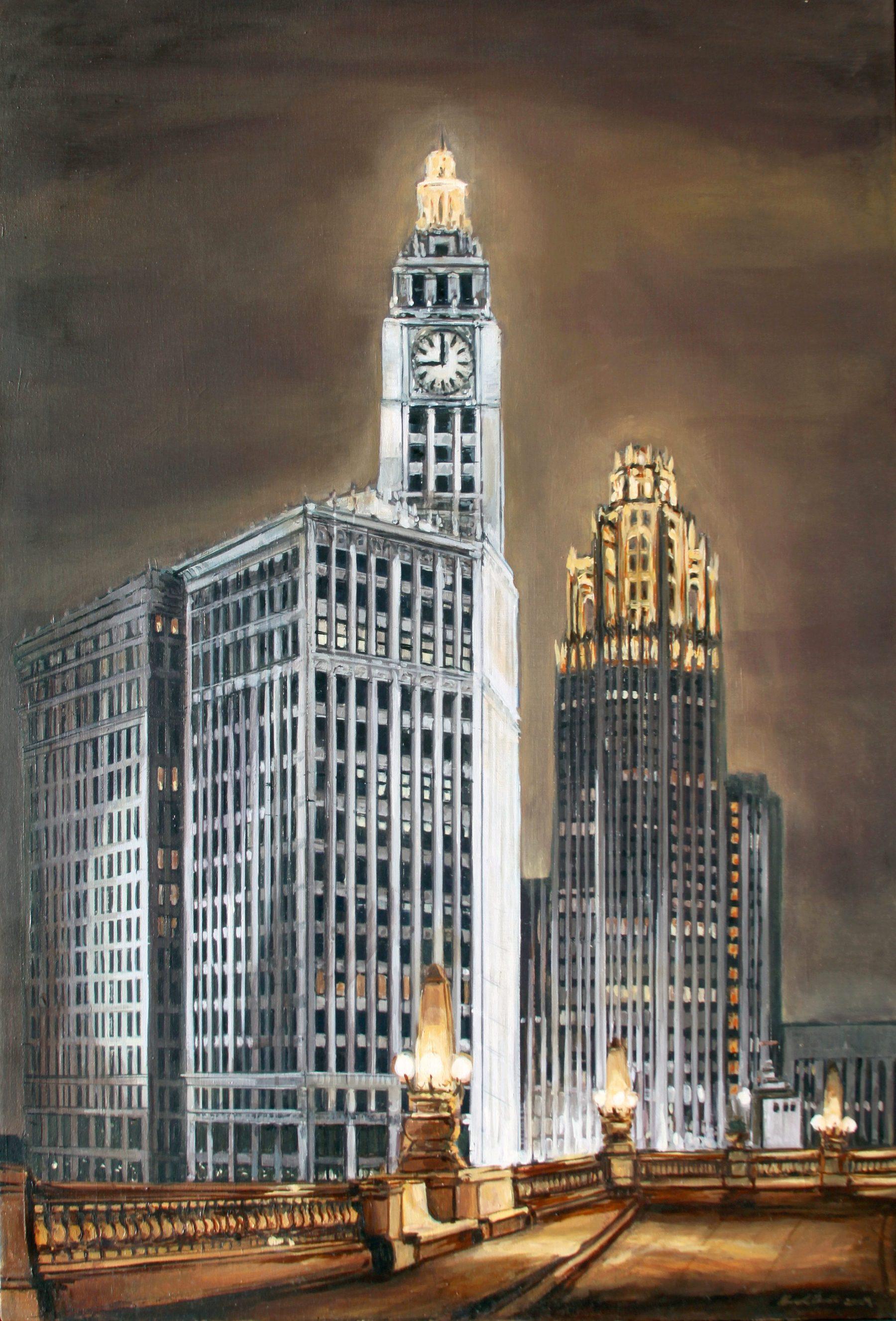 Wrigley Building and Chicago Tribune