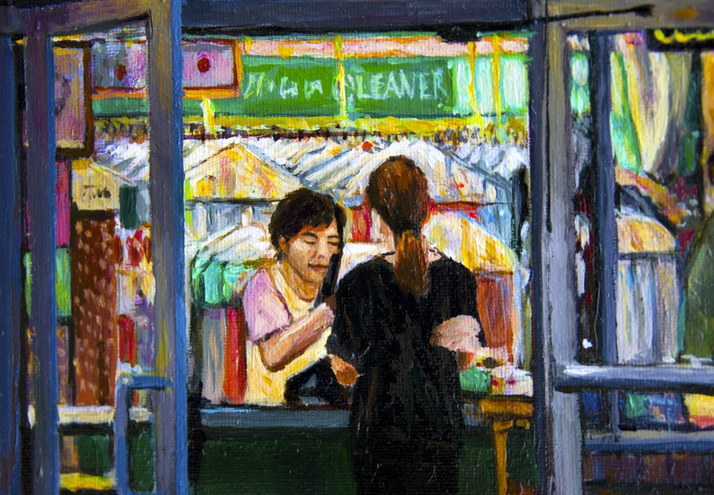 Dry Cleaner at Night detail