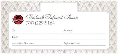Burbank Infrared Sauna gift certificate