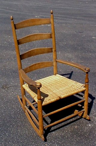 white ladder back chairs rush seats art van march 21,1999 partial auction catalog