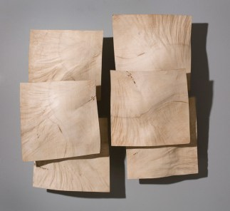 "30"" x 36"" x 9"" Bleached Madrone Burl/Linen Thread"