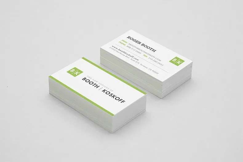 Booth & Koskoff Business Cards