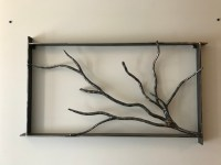 Forged Tree Branch Wall Art: Burdette Ironworks
