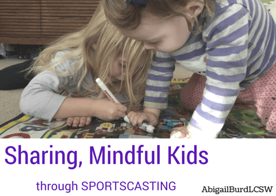 sharing mindful kids sportscasting