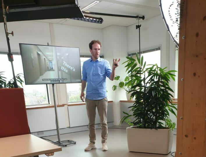 Maarten bij Ingrado stagebegeleiding op afstand spreker van Bureau Brand praktijkopleider