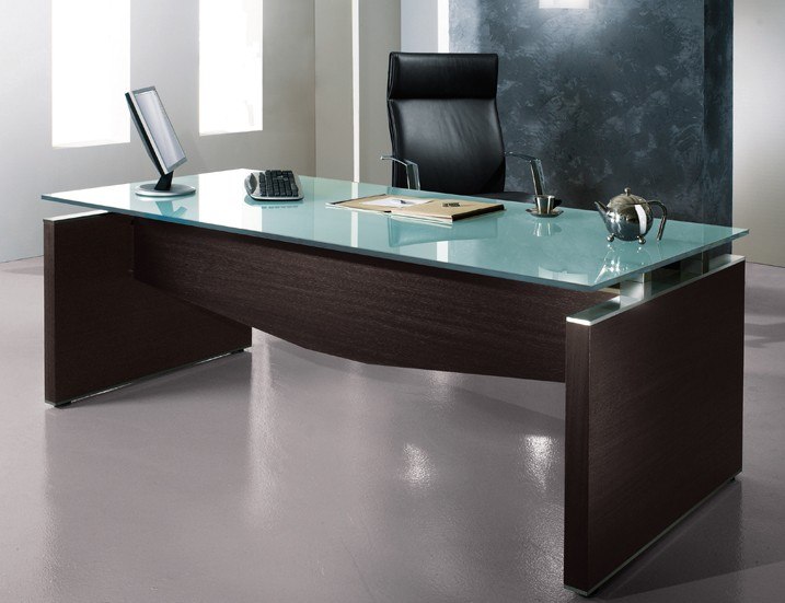 bureau haut de gamme bois verre