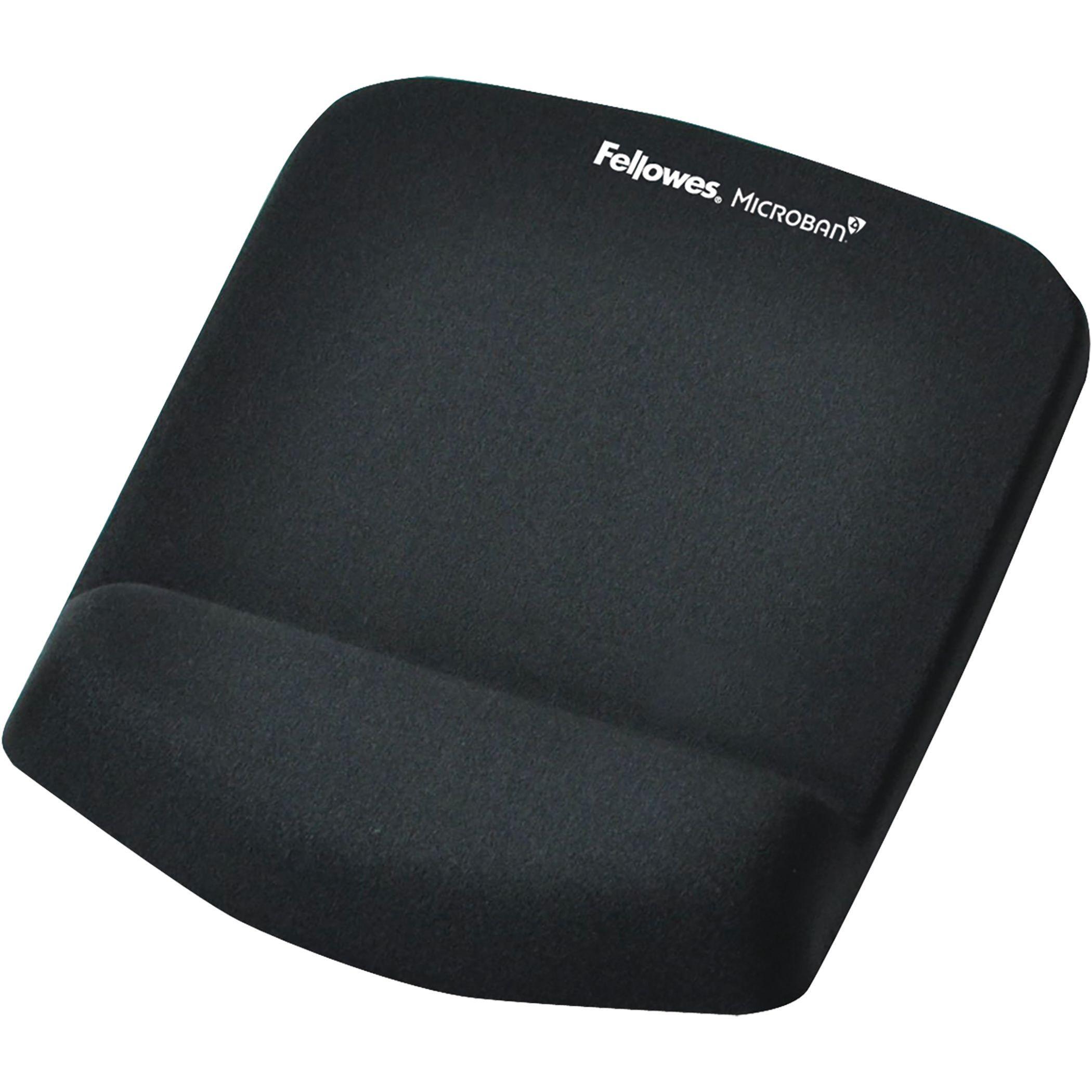 fellowes plushtouch tapis de souris repose poignets ergonomique noir