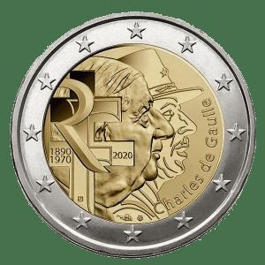 2€ commémorative Charles de Gaulle 2020