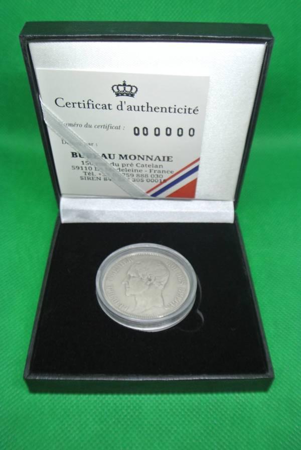 Léopold I 5 francs argent pièce belge
