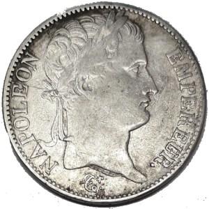 Pièce de 5 Francs de Napoléon 1er en argent massif - pièce en argent rare