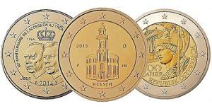 Collection de pièces de deux euros commémoratives
