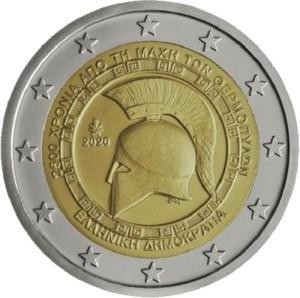 2 euros commémorative batailles des thermoplytes grèce