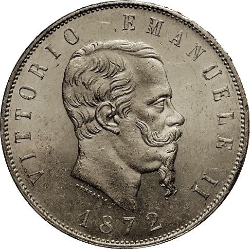 5 lires Victor-Emmanuel de Savoie Italie