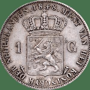 willem II 1 gulden florin néerlandais guillaume II
