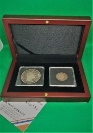 Coffret argent Napoléon 1er 1 et 5 francs