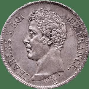 Francs en argent Charles X roi de france