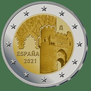 2 euros commemorative Toledo Espagne 2021