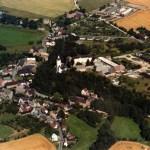 Vue aérienne de Posterstein début des années 1990 (Museum Burg Posterstein)
