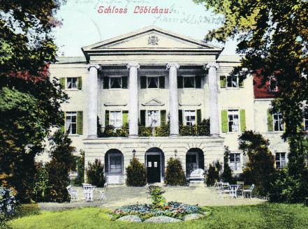 Schloss Lbichau Ansichtskarte von 1904 Museum Burg