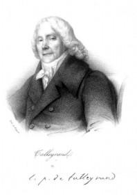 Zu dem einflussreichen französischen Politiker Talleyrand pflegte die Herzogin Dorothea von Kurland eine sehr persönliche Beziehung.