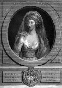 Kupferstich Anna Dorothea von Kurland nach Anton Graff (Museum Burg Posterstein)