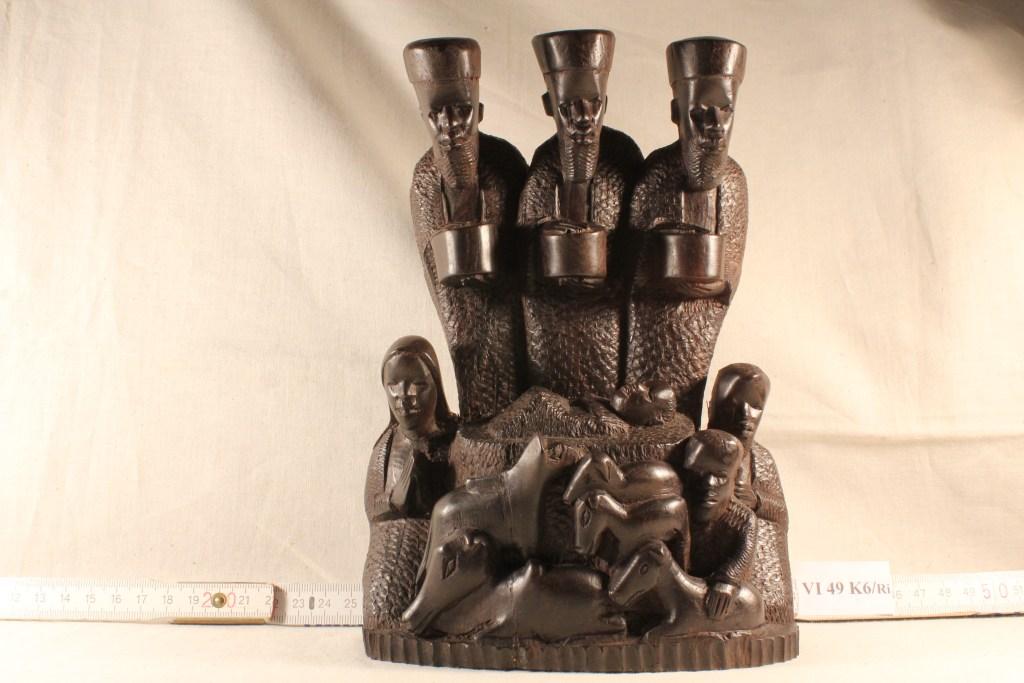 Afrikanische Weihnachtskrippe - Sammlung Museum Burg Posterstein
