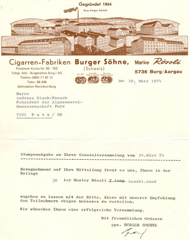 Gratis Rauchwaren anno 1974