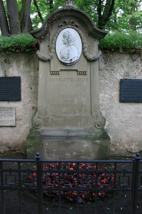 Grab Charlotten von Stein grab goethe Schiller Weimar