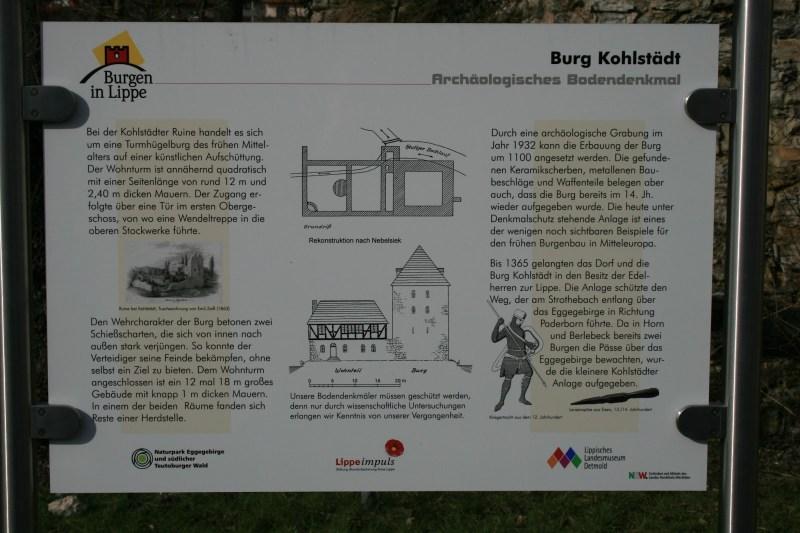 Burgruine Kohlstädt Schlangen Ostwestfalen Veleda