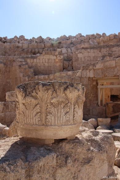 Ruinen in Israel, Ruinen bei Behtlehem, Ruinen bei Jerusalem, Grab von König Herodes